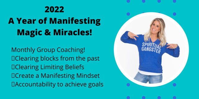Start NOW – 14 months – A Year of Online Manifesting Coaching – only $22/month.